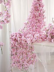levne -Umělé květiny 1 Větev Nástěnný Pozastaveno Party Svatba Sakura Koš květin