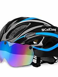 Недорогие -CoolChange Мотоциклетный шлем BMX Шлем 20 Вентиляционные клапаны CE EN 1077 Легкий вес Сетка от насекомых Формованный с цельной оболочкой ESP+PC Виды спорта На открытом воздухе Мотобайк - Желтый Синий