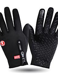 Недорогие -WOSAWE Спортивные перчатки Зимние Перчатки для сенсорного экрана С защитой от ветра Сохраняет тепло Нескользящий Полный палец Перчатки для тач-скрина Зима Нетканая силикагель