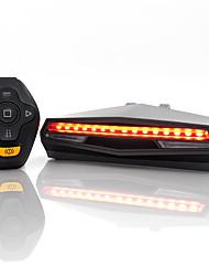 Недорогие -Пульт дистанционного управления указатель поворота светодиодные велосипед задний свет новизны usb аккумуляторная смарт велоспорт аксессуары беспроводной велосипед задний фонарь