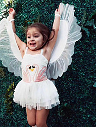 Χαμηλού Κόστους -Παιδιά Κοριτσίστικα Βασικό Μονόχρωμο Αμάνικο Φόρεμα Μπεζ