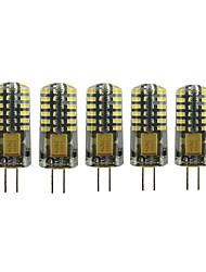 Недорогие -5 шт. 3 W 90-105 lm G4 Двухштырьковые LED лампы T 48 Светодиодные бусины SMD 3014 Милый Тёплый белый / Холодный белый 12 V