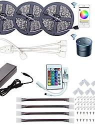 Недорогие -KWB Wi-Fi светодиодный контроллер питания Wi-Fi беспроводной смартфон с управлением световой полосы светодиодный комплект 5050 светодиодные фонари 15 м (3x5 м) RGB светодиодные ленты 5050 smd