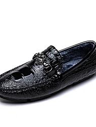 povoljno -Muškarci Udobne cipele Mikrovlakana Jesen zima Natikače i mokasinke Crn / Pink