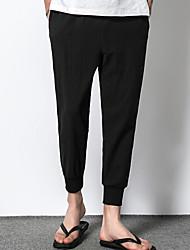 povoljno -muške hlače chinos veličine u azijskim veličinama - čvrste boje kaki