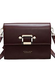 cheap -Women's Bags PU(Polyurethane) Shoulder Bag Zipper Solid Color Black / Coffee / Wine