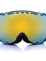 Недорогие -анти туман уф двойные линзы лыжные очки мотоцикл сферические сноуборд очки
