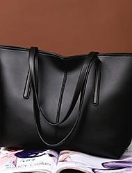 abordables -Mujer Bolsos PU Tote Cremallera Color sólido Verde Oscuro / Plateado / Wine
