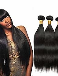 olcso -3 csomag Brazil haj Egyenes Szűz haj Az emberi haj sző Jelmez kiegészítők Bundle Hair 8-28 hüvelyk Természetes szín Emberi haj sző Szagmentes Legjobb minőség Újonnan érkező Human Hair Extensions Női