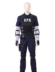 Недорогие -Вдохновлен Resident Evil Annie Leonhardt Аниме Косплэй костюмы Косплей Костюмы Однотонный Длинный рукав 1 футболка со светодиодами / Жилетка / Блузка Назначение Муж.