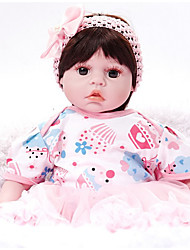 cheap -FeelWind Reborn Doll Girl Doll Baby Girl 20 inch Silicone Vinyl - lifelike Handmade Cute Kids / Teen Non-toxic Kid's Unisex Toy Gift