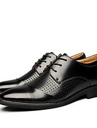 povoljno -Muškarci Udobne cipele Koža Ljeto Oksfordice Crn / Braon