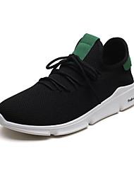 זול -בגדי ריקוד גברים נעלי נוחות רשת אביב קיץ ספורטיבי / יום יומי נעלי אתלטיקה ריצה נושם קולור בלוק שחור אדום / שחור / ירוק / לבן וירוק