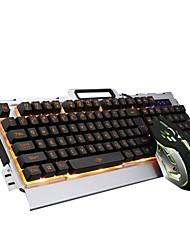 Недорогие -SADES 33K USB Проводной Мышь Клавиатура Комбо Градиент цвета / Подсветка / Влагозащищенная Игровые клавиатуры Светящийся Gaming Mouse / Эргономичная мышь 2400 dpi Игры