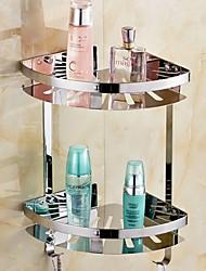 abordables -Etagère de Salle de Bain Design nouveau / Cool Moderne Acier inoxydable 1pc Double Montage mural