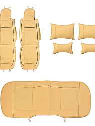 cheap -Car Seat Covers Headrest & Waist Cushion Kits Beige Sponge / Leather Common For universal All years General Motors