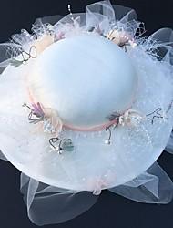 رخيصةأون -تول قطع زينة الرأس مع قبعة 1 قطعة زفاف / حفل / مساء خوذة