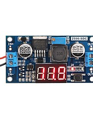 Недорогие -lm2596 аналоговый регулятор понижающий трансформатор dc-dc регулятор напряжения стабилизатор модуля стабилизатора с красным светодиодным дисплеем вольтметр
