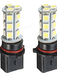 זול -2pcs Köynnös מכונית נורות תאורה SMD 5050 18 LED אורות ערפל / אורות יום עבור אוניברסלי כל השנים