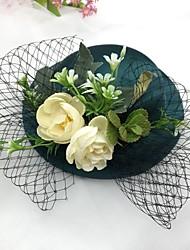رخيصةأون -غيرها من المواد قطع زينة الرأس مع قبعة 1 قطعة زفاف / حفل / مساء خوذة