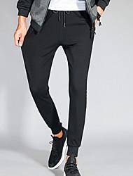 זול -בגדי ריקוד גברים בסיסי מכנסי טרנינג מכנסיים אחיד / גיאומטרי