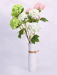 povoljno -Umjetna Cvijeće 1 Podružnica Klasični Rekviziti Europska Hortenzije Vječni cvjetovi Cvjeće za stol
