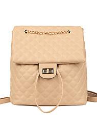 저렴한 -여성용 가방 우레탄 배낭 지퍼 용 일상 봄 블랙 / 루비 / 카키