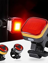 Недорогие -Задняя подсветка на велосипед Светодиодная лампа Велосипедные фары Горные велосипеды Велоспорт Водонепроницаемый Портативные Прочный Литий-ионная аккумуляторная батарея 120 lm Оранжевый