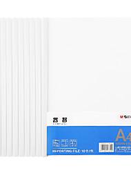 Недорогие -10 pcs M&G ADMN4163 Папки файлов A4 PP Прозрачный Custom Label
