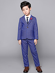 cheap -Black / Dark Navy POLY Ring Bearer Suit - Three-piece Suit Includes  Vest