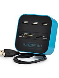 Недорогие -USB 2.0 to USB 2.0 USB-концентратор 3 Порты С чтения карт (ы)