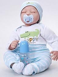 Χαμηλού Κόστους -FeelWind Κούκλες σαν αληθινές Μωρά Αγόρια 22 inch Σιλικόνη Βινύλιο - όμοιος με ζωντανό Χειροποίητο Χαριτωμένο Παιδικό / Εφηβικό Μη τοξικά Παιδικά Γιούνισεξ Παιχνίδια Δώρο