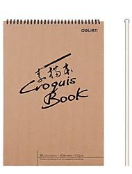 Недорогие -1 пак deli 73356-S Sketchbook 40 простыни 8K