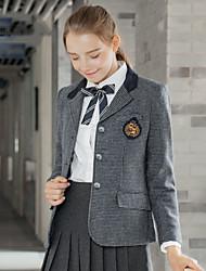 abordables -Estudiante / Uniforme de escuela Colegialas JK Uniform Abrigo Disfrace de Cosplay Mujer Chica Adulto Escuela secundaria Para Halloween Rendimiento Poliéster Piel de oveja Cuadros / A Cuadros Retazos