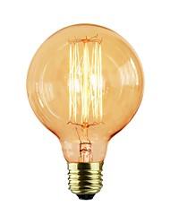 Недорогие -1шт 40 W E26 / E27 G80 Желтый Прозрачный Body Лампа накаливания Vintage Эдисон лампочка 110-130 V