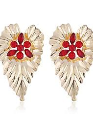 ราคาถูก -สำหรับผู้หญิง โบราณ Drop Earrings ต่างหู Flower Punk เครื่องประดับ สายรุ้ง / แดง / ฟ้า สำหรับ ทุกวัน เป็นทางการ 1pc