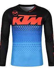 Недорогие -ktm moto gp team Мужская гоночная одежда Футболка из джерси для бездорожья