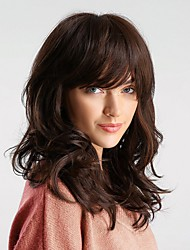 cheap -Synthetic Wig Bouncy Curl Brown Side Part Brown Synthetic Hair 20 inch Women's Synthetic / Comfortable / Natural Hairline Brown Wig Medium Length Capless HAIR CUBE