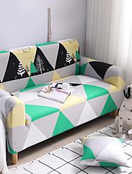 Недорогие -стильный чехол для дивана / с полоской / однотонный / с эластичной тканой пряжей / хлопчатобумажный шамбре / полиэстер