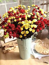 abordables -Fleurs artificielles 5 Une succursale Classique Traditionnel / Classique style pastoral Roses Fleurs éternelles Fleur de Table