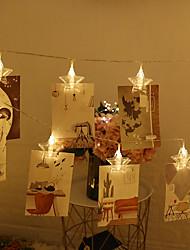 povoljno -3M Žice sa svjetlima 20 LED diode Toplo bijelo / Bijela / Crveno Kreativan / Party / Ukrasno AA baterije su pogonjene 1pc