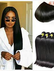 voordelige -4 bundels Braziliaans haar Recht Mensen Remy Haar Menselijk haar weeft Verlenging Bundle Hair 8-28inch Natuurlijke Kleur Menselijk haar weeft Modieus Design Zijdeachtig Modieus Extensions van echt