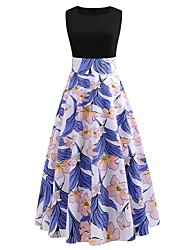 preiswerte -Knielanges Kleid für Damen a line blau s m l xl