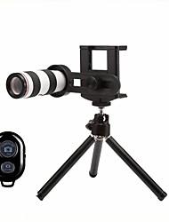 Недорогие -Объектив для мобильного телефона Длиннофокусный объектив стекло / Пластиковые & Металл / ABS + PC Макрос 12X 30 mm 3 m 9 ° Линза / объектив со стендом / Творчество / Новый дизайн