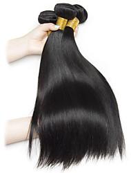 voordelige -4 bundels Braziliaans haar Recht Mensen Remy Haar Menselijk haar weeft Verlenging Bundle Hair 8-28inch Natuurlijke Kleur Menselijk haar weeft Leven Cosplay Creatief Extensions van echt haar Dames