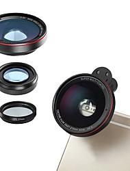 Недорогие -Объектив для мобильного телефона Объектив с фильтром / Объектив фиш-ай / Широкоугольный объектив стекло / Пластиковые & Металл / Алюминиевый сплав 2X 4 mm 3 m 180 °