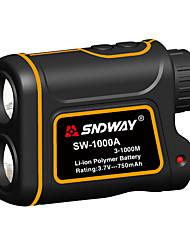 Недорогие -sndway sw-1000a телескоп лазерный дальномер 1000 м лазерный дальномер с функцией измерения разности скоростей с функцией измерения разности высот водонепроницаемый пыленепроницаемый оптический 7 раз u