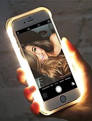 preiswerte -Hülle Für Apple iPhone XS Max / iPhone 6 LED Rückseite Solide Hart Kunststoff für iPhone XS / iPhone XR / iPhone XS Max