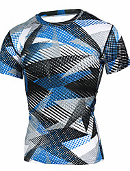 cheap -Compression Clothing Compression Shirt Men's Outdoor Exercise Cycling / Bike Bike Lightweight Breathable Quick Dry Green Blue Black / Blue Spring Summer Fall Eco-friendly Polyester XL XXL XXXL