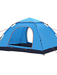 cheap -2 person Family Tent Outdoor Windproof Rain Waterproof Breathability Single Layered Automatic Camping Tent 1000-1500 mm for Fishing Climbing Camping / Hiking / Caving Glass fiber 215*215*135 cm